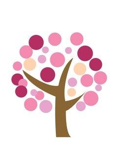 Modern tree 3 (pink)