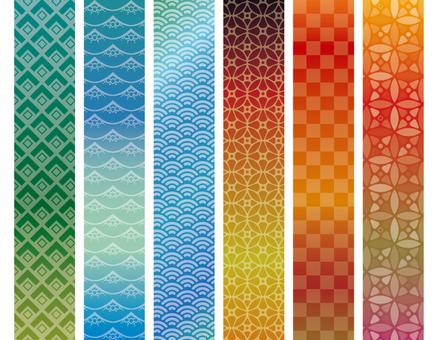 Japanese pattern / Japanese style / pattern set