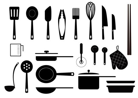 Icon kitchen utensil set
