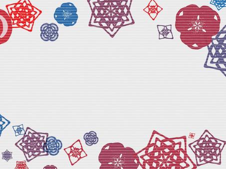 Japanese pattern scattering frame