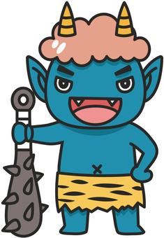 Blue demon illustration