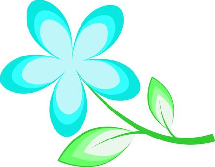 하늘색의 꽃