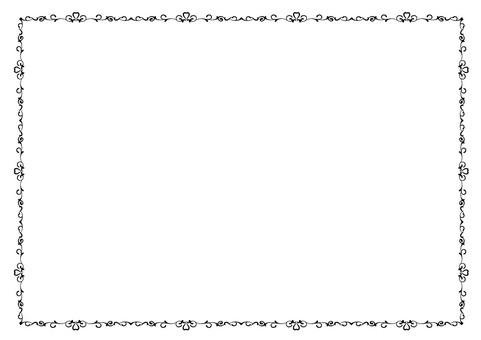 Elegant cute decorative frame black and white