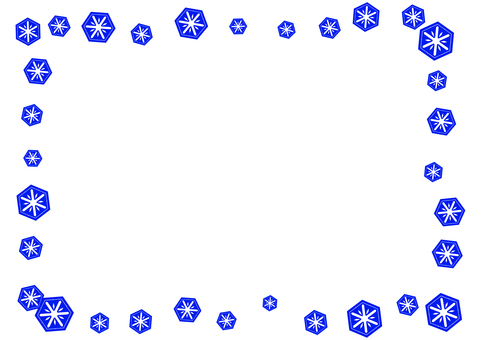 Simple snow crystal card 3