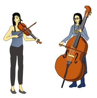바이올린과 콘트라베이스의 협연