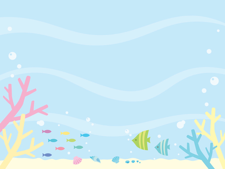 Coral and fish illustration