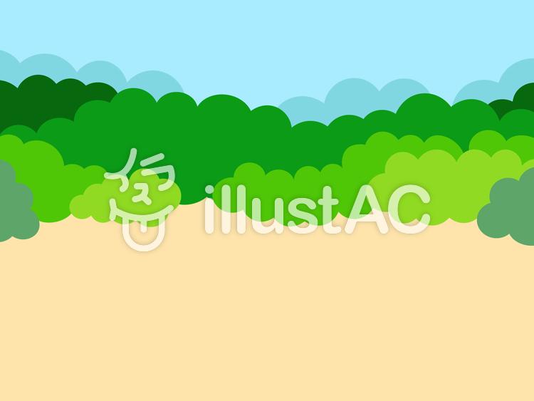 簡単な背景 空き地のイラスト