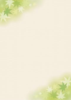 단풍 프레임 녹색 2