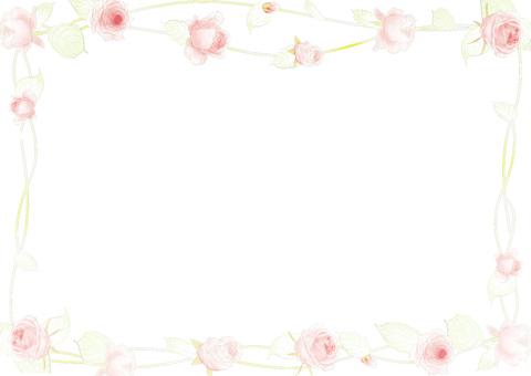 Lightly colored rose frame