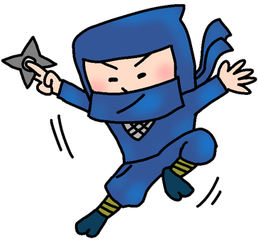 Illustration of a good movement ninja