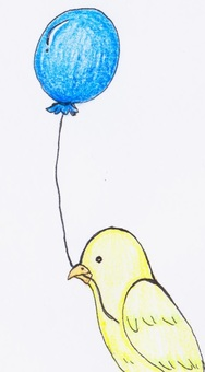Balloon and bird 2 (color)