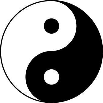 Yin Yang ball _ monochrome