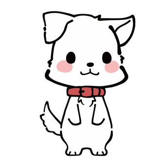 심플 흰색 강아지 캐릭터