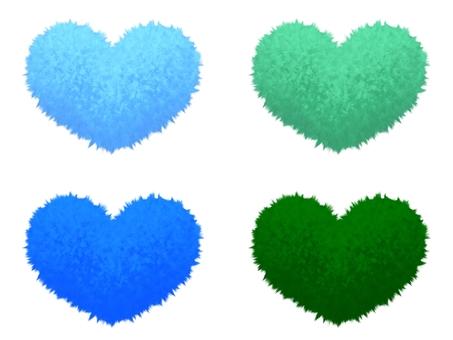 Fluffy Mokomoko Material Heart 2