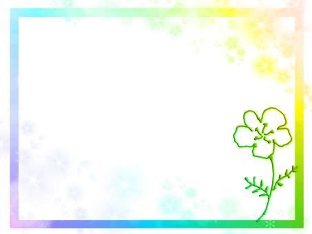 Frame虹色flower