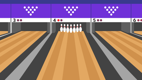 Simple Background Bowling Alley 16: 9 Wide