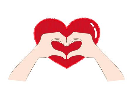 Heart type hand sign c