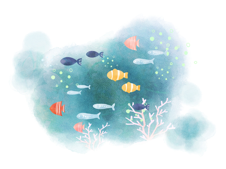 Fish swimming with the sea 02