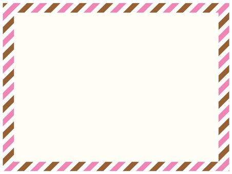 Pink and brown air mail frame