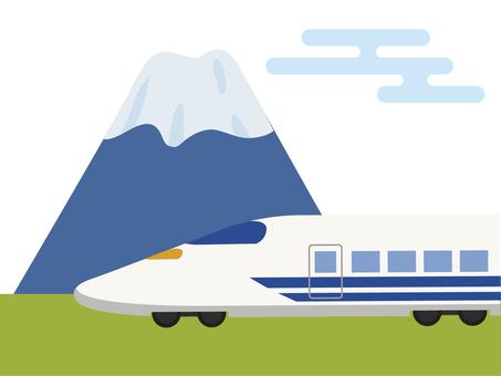 Fuji and the Shinkansen - japan -