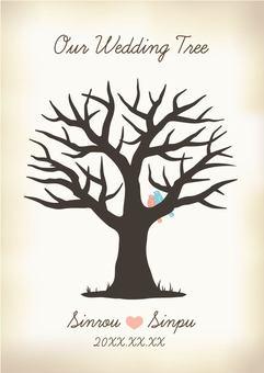 Wedding Tree Sepia