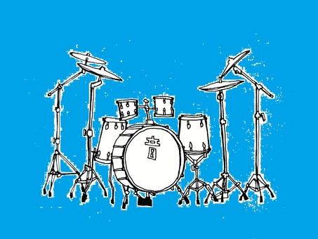 드럼 세트 (배경 파랑)