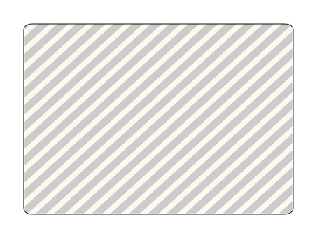 Gray stripe plate
