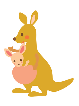 Kangaroo parent and child