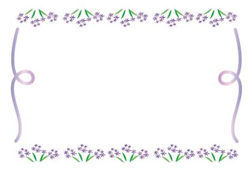 Cute framework of light purple little flowers