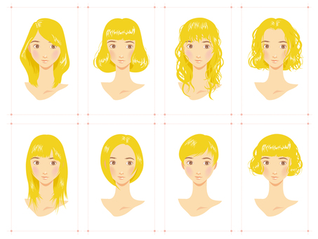 Female Hairstyles Various Bleach