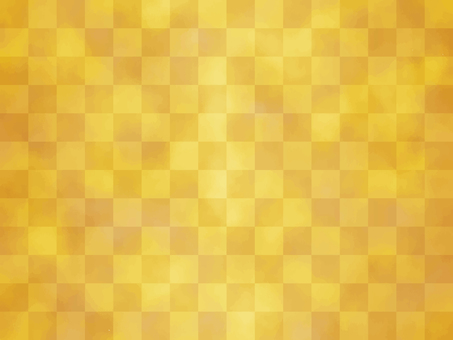 Background material _ Gold _ checkered pattern