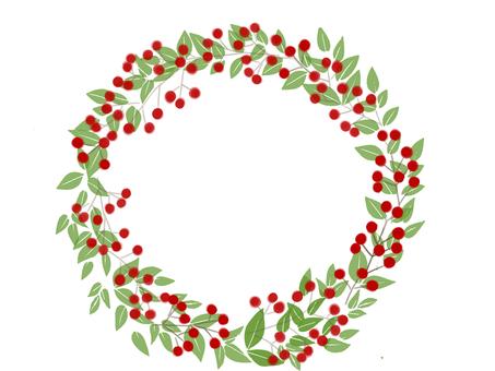 Nanten Christmas wreath New Year wreath