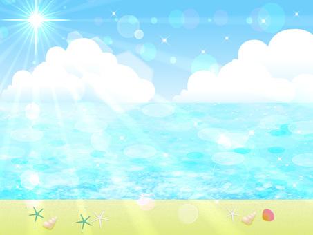Glittering beach