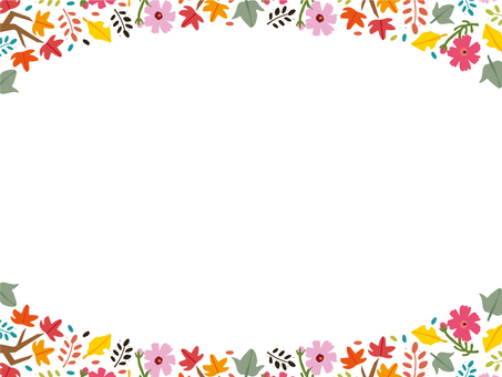 Autumn Frame Botanical Pattern Scandinavian