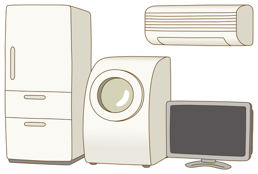 Garbage separation / 4 items of home appliances