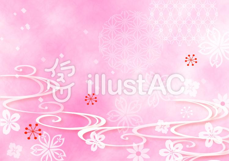 桜の背景のイラスト