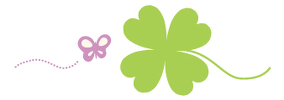 Clover and Butterfly _ Illustration