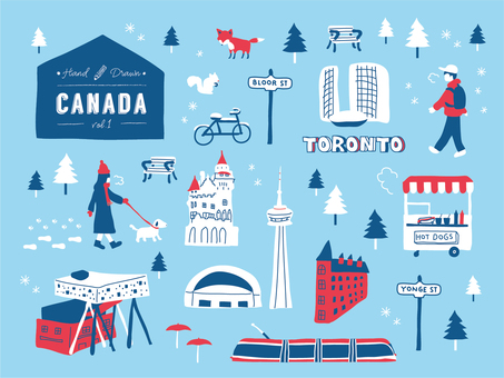 Handwritten Toronto · Canada in winter · skyline · landscape