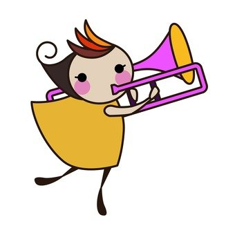 Trombone player, girl