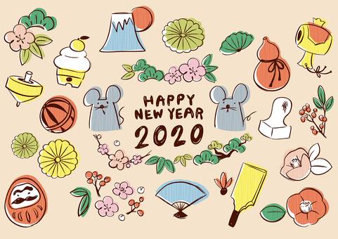 Sketch_New Year's card_2Stripe_02