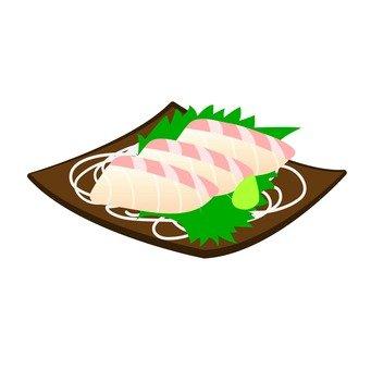 흰살 생선 사시미