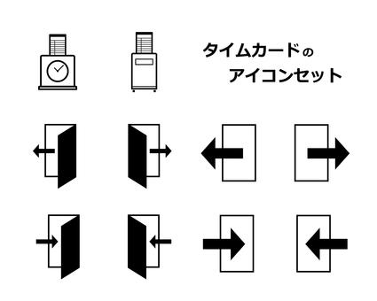 Time card icon set