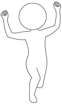 Guts pose
