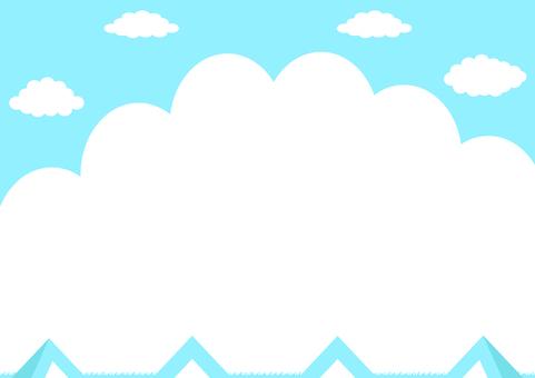 キャンプ 入道雲