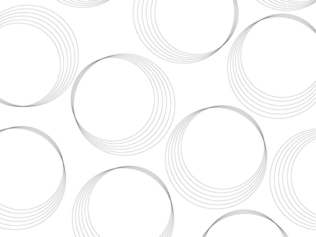 Delicate curve circle pattern (background transparent)
