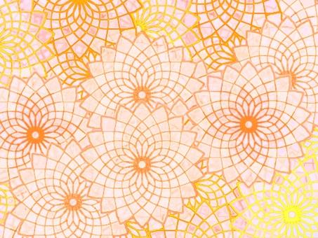 Japanese style cute flower pattern