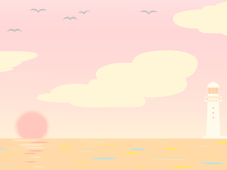 Sea background (evening)