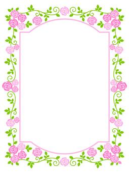 Rose frame (pink)