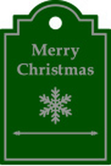 Christmas label green