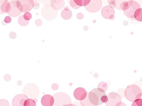 """Foam pattern frame """"Pink"""""""